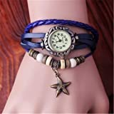 Dress Watches Womens Quartz Watch Fashion Bracelet Watches for Girls Handmade Weave Watch Christmas Gift Vis-10