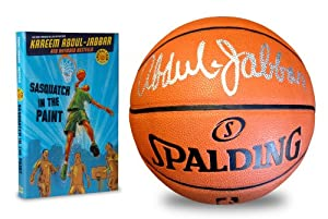 Autographed Kareem Abdul-Jabbar Spalding Composite Leather Basketball, Laker... by Starguard+Collectibles