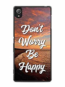 YuBingo Don't Worry. Be Happy Designer Mobile Case Back Cover for Sony Xperia Z4