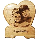 SINGLE HEART, NMV Wooden Plaque,Engraved Wooden Photo Plaque,Laser Engraved Photo On Wood