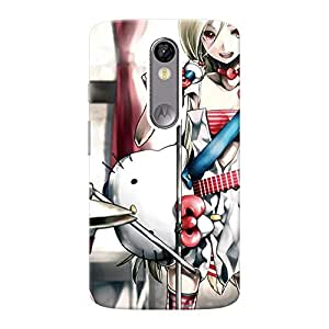 Mobile Back Cover For Motorola Moto X Force (Printed Designer Case)