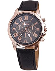 COSMIC Platinum Classic Black & Rose Gold Analog Watch - For Women,GIRLS