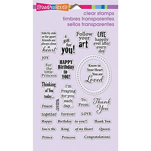 "Stampendous Perfectly Clear Rubber Stamp, ""Royal Heart Quotes  """