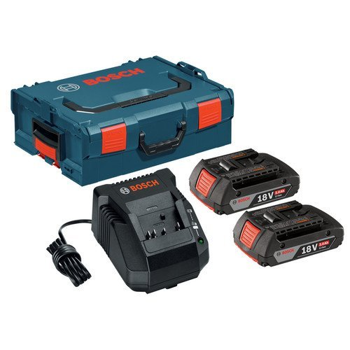 Bosch SKC181-202L 18-Volt Lithium-Ion Starter Kit with (2) 2.0 Ah Batteries, Charger and L-BOXX-2 (Bosch 18 Volt Combo compare prices)