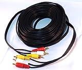 shopk2z AVケーブル  15m RCA 3ピン(赤 白 黄) 無酸素銅線(OFCケーブル) 金メッキプラグ