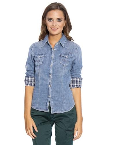 Pepe Jeans - Camicia -  donna blu L