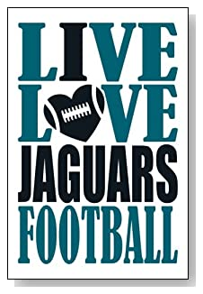 Live Love I Heart Jaguars Football lined journal - any occasion gift idea for Jacksonville Jaguars fans from WriteDrawDesign.com