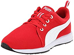 PUMA Carson Runner JR Sneaker (Little Kid/Big Kid) , High Risk Red/White/PUMA Silver, 2.5 M US Little Kid