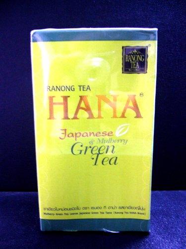 Ranong Tea Hana Brand Japanese Green Tea & Mulberry Green Tea Leaves 120 G. Best Product From Thailand