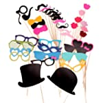 36PCS Colorful Props On A Stick Musta...