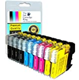 10 (2 full sets + 2 extra black) compatible ink cartridges LC985 for Brother printers DCP-J315W, DCP-J515W, DCP-J125, MFC-J220, MFC-J265W, MFCJ415W, MFC-J410, LC985 BLACK, CYAN, MAGENTA, YELLOW