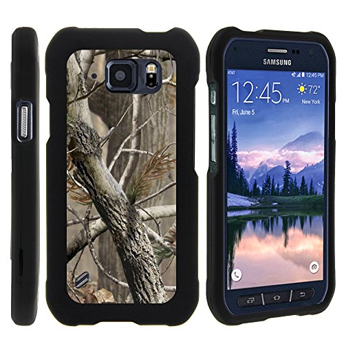 Samsung Galaxy S6 Active G890 Case - Perfect Fit Cell Phone Case Hard Cover with Cute Design Patterns for Samsung Galaxy S6 Active SM-G890 ATT from MINITURTLE Includes Clear Screen Protector and Stylus Pen - Hunter Camouflage