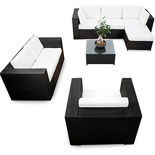 erweiterbares-23tlg-Lounge-Mbel-Garten-Ecksofa-Set-Rattan-schwarz-Gartenmbel-Sitzgruppe-Garnitur-Lounge-Eck-Set-XXL-inkl-Lounge-Ecke-Sessel-Hocker-Tisch-Kissen