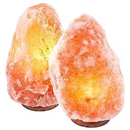 Crystal Decor® Set of 2 Hand Crafted Natural Himalayan 10\