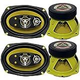 """4) New Pyle PLG69.5 6x9"""" 900 Watt 5-Way Car Audio Speakers Stereo PLG695 4-pack"""