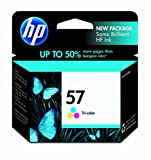 HP 57 Tri-Color Ink Cartridge in Retail Packaging