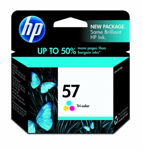 HP 57 Tri-Color Ink Cartridge in Retail Packaging