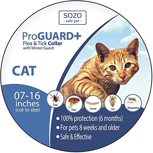 Flea Tick Collar - CAT - ProGuard Plus II (safe pet protection from pest bites infestations larvae lice mosquitoes) (Anti Ticket compare prices)