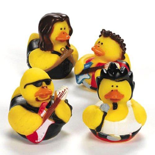 Rock Star Themed Rubber Duckies (1 dz)