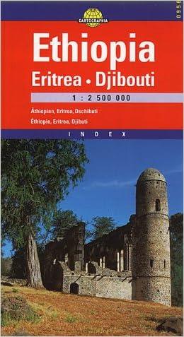 Ethiopia Eritrea & Djibuti (Cartographia International Road Map) (Hungarian Edition)