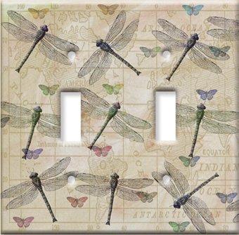 Images for Dragonflies & Butterflies Switch Plate - Double Toggle
