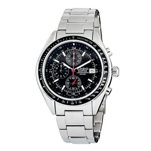 Casio Men's EF503D-1AV Edifice Stainless Steel Chronograph Watch