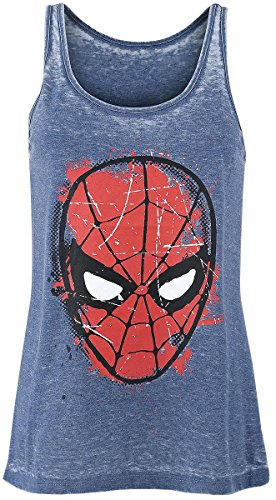 Spiderman Burnout Washed Top donna blu XS