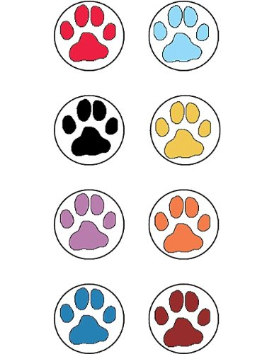 Teacher Created Resources Puppy Paw Prints Mini Stickers from Mary Engelbreit, Multi Color (4249)