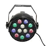 Lixada DMX-512 RGBW LED DJ Lichteffekt Disco Beleuchtung 8 Kanal 15W Wechselstrom 100-240V (1PCS)