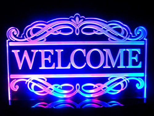 Multi Color Acrylic Led Welcome Signs Lamp Night Light Beer Bar Pub Business Decor front-491466