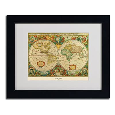 Trademark Fine Art Old World Map Painting Canvas Artwork