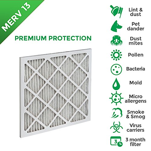 20x20x1 6 PACK Merv 13 (MPR 2200) Pleated AC Furnace Air Filters (Tier 1 Furnace Filter compare prices)