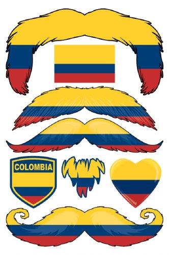 StacheTATS Colombia Temporary Mustache Tattoos - 1