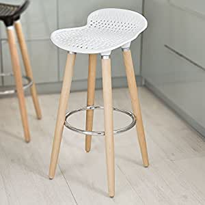 sobuy fst35 w tabouret de bar cuisine avec repose pieds haute qualit cuisine maison. Black Bedroom Furniture Sets. Home Design Ideas