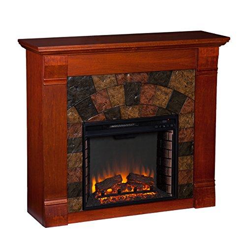 Southern Enterprises Elmwood Electric Fireplace, Mahogany