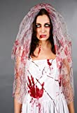 blutbefleckter Brautschleier Halloween Horror Kostümzubehör