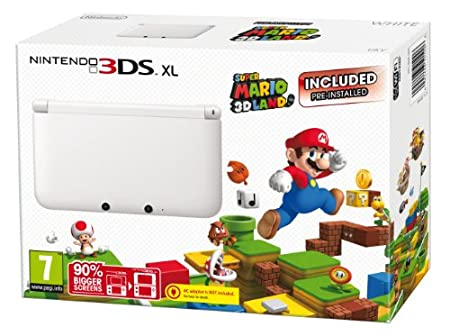 Nintendo Handheld Console 3DS XL -  White Super Mario 3D Land: Limited Edition (Nintendo 3DS)