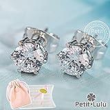 【Petit Lulu shop】ピアス レディース スワロフスキー 一粒 18金RGP 二色展開 プチルルオリジナルピアス3点セット (ホワイトゴールド)