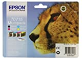 Epson T0715 Tintenpatronen Multipack  (cyan, magenta, gelb, schwarz)