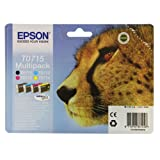 Epson Original T0715 4-Cartridge Multipack (Cyan T0712, Magenta T0713, Yellow T0714 and Black T0711)by Epson
