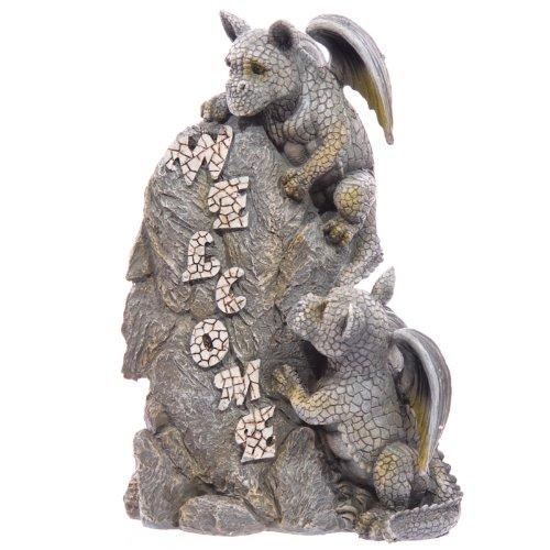 Gartenfiguren Drachen Stein : gartenfigur zwei drachen mit welcome stein ~ Whattoseeinmadrid.com Haus und Dekorationen