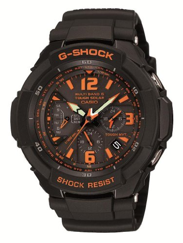 CASIO G-SHOCK SKY COCKPIT Tough Solar Radio Controlled MULTIBAND 6 GW-3000B-1AJF (Japan Import)
