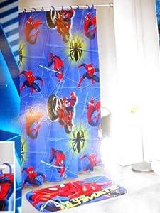 Marvel 14 piece the ultimate spiderman bath for Spiderman bathroom ideas