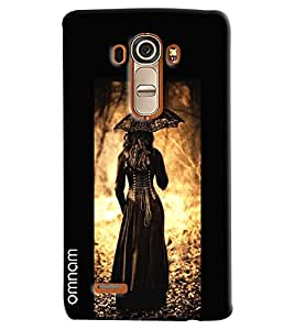 Omnam Girl Standing With Umbrella Printed Designer Back Cover Case For LG G4