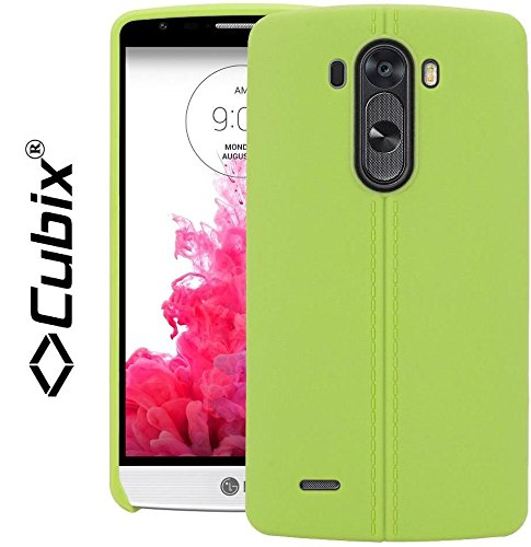 LG G3 D855 Case, CUBIX Stiched Line Design Armor Flip TPU Back Case Cover For LG G3 D855 (Green)  available at amazon for Rs.349