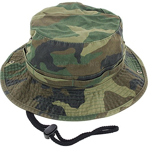 Dealstock 100 cotton boonie fishing bucket men safari for Best fishing hat