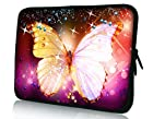 Pink Butterfly 7 Inch Sleeve Bag Pouch Cover for 6 7 8 Google Nexus 7 Android Tablet Case / 7 Mach Speed Trio Stealth Pro