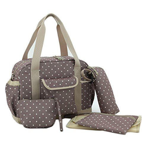 Damero 5 in 1 Diaper Shoulder Bag (Khaki)