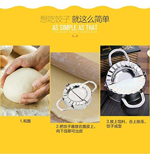 Dough Press, Windspeed Dumpling Maker Stainless Steel Ravioli Pierogi Make Machine