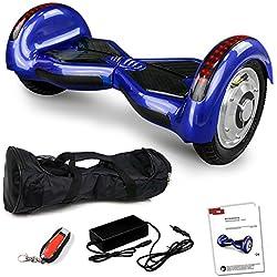 """10"""" Zoll Smartway Elektro Luftreifen Roller Skateboard Tretroller Elektroroller Driveboard (Blau)"""